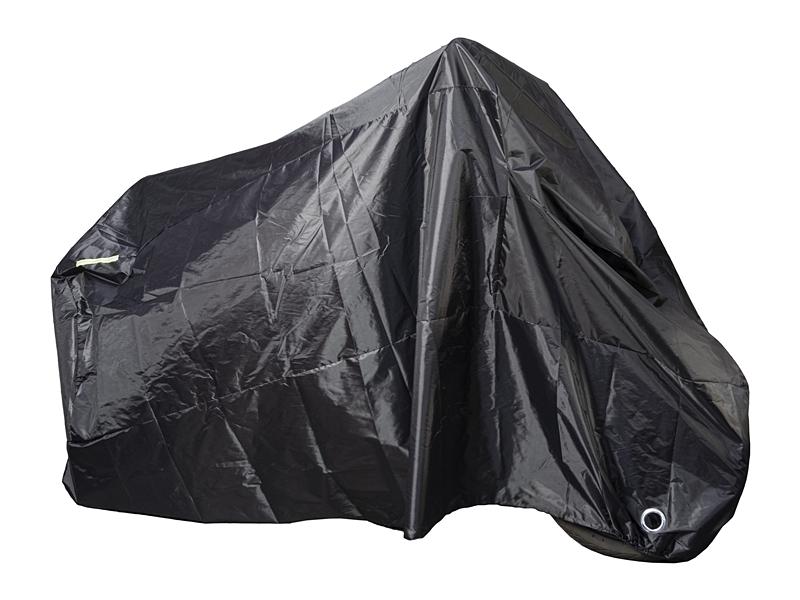 ผ้าคลุมรถมอเตอร์ไซค์สีดำ ป้องกันน้ำ ป้องกัน UV(XXL)