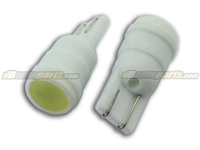 หลอดไฟ LED 1 เม็ด ขั้ว T10 แสงขาว บอดี้เซรามิก