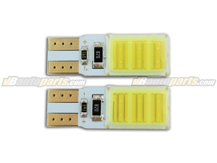หลอดไฟ LED ขั้ว T10 แสงขาว COB 6 จุด