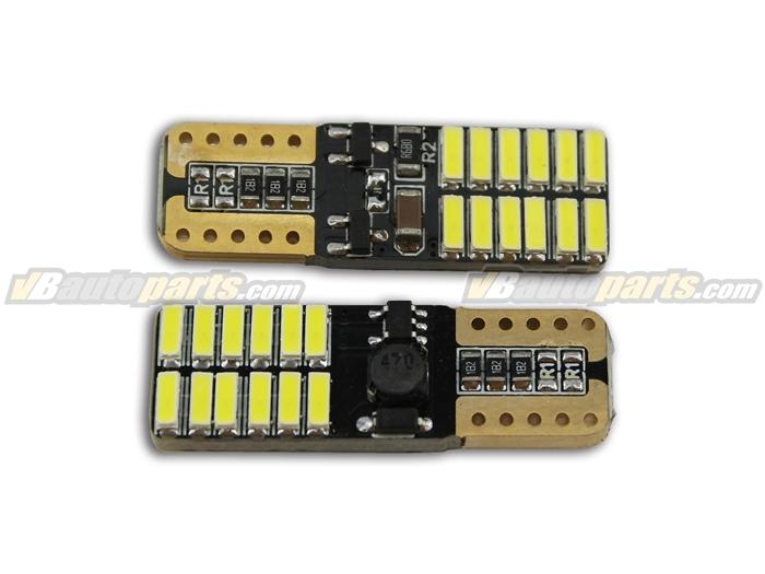 ไฟ LED 24 เม็ด ขั้ว T10  สีไอซ์บูล