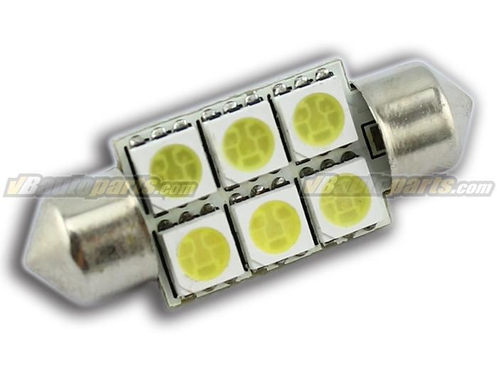 LED ไฟเพดาน แสงขาว (6 SMD 36mm.)
