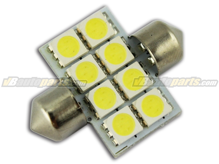 LED ไฟเพดาน สีขาว (8 SMD 31mm.)
