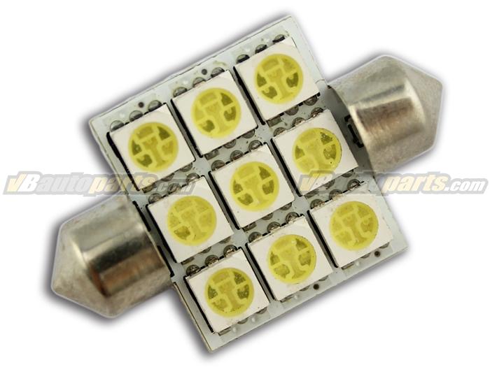 LED ไฟเพดาน สีขาว (9 SMD 36mm.)