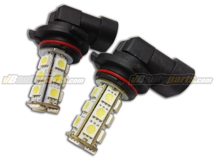 หลอดไฟ LED ขั้ว 9006 ไฟ 18 จุด SMD แสงขาว