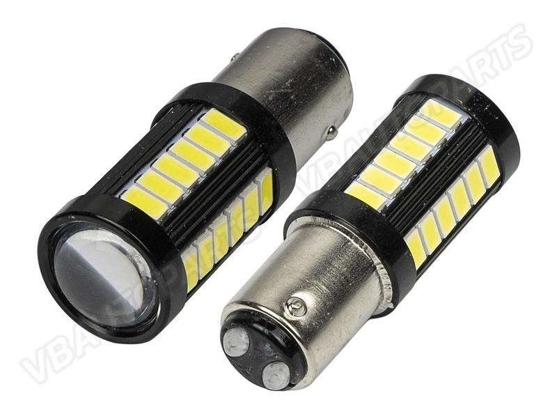 หลอดไฟ P21/5w LED 33 เม็ด BK 1157(P21/5w-WHITE)