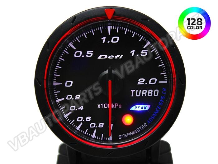 เกจ์ Defi Adv. CR หน้าวัด Boost รุ่น 128 สี หน้าดำ