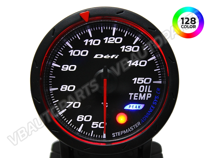 เกจ์ Defi Adv. CR หน้าความร้อนน้ำมันเครื่อง รุ่น 128 สี หน้าดำ