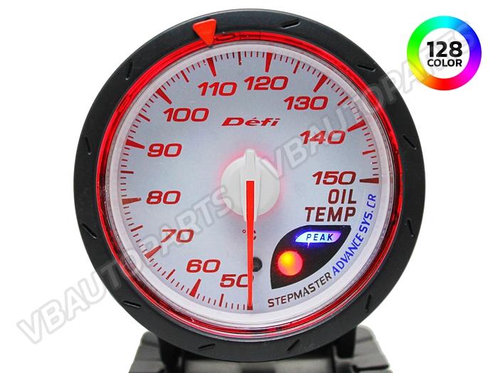 เกจ์ Defi Adv. CR หน้าความร้อนน้ำมันเครื่อง รุ่น 128 สี หน้าขาว