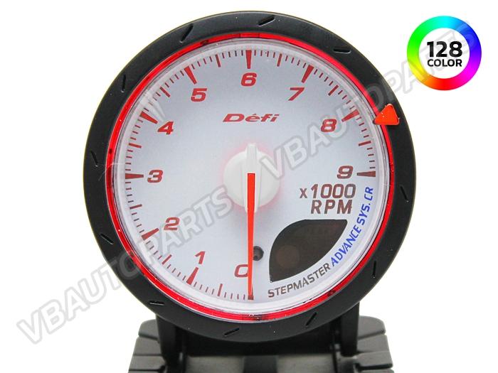 เกจ์ Defi Adv. CR หน้าวัดรอบ รุ่น 128 สี หน้าขาว