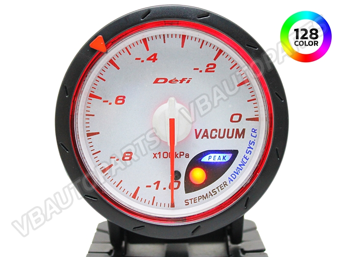 เกจ์ Defi Adv. CR หน้า Vacuum รุ่น 128 สี หน้าขาว