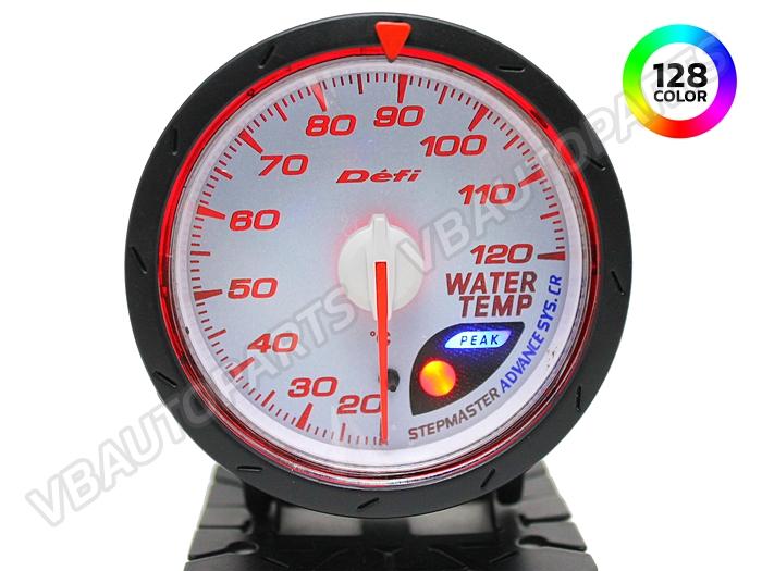 เกจ์ Defi Adv. CR หน้าความร้อนหม้อน้ำ รุ่น 128 สี หน้าขาว