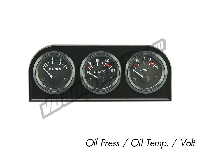 Din เกจ 52mm. (Oilpress/Oil Temp/Volt)