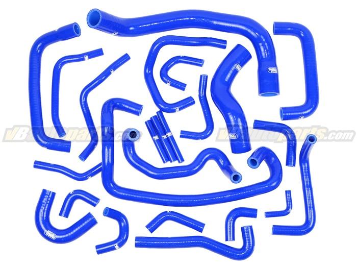 ชุดท่อน้ำ SAMCO Nissan RB26 R32 24 ชิ้น (BLUE)
