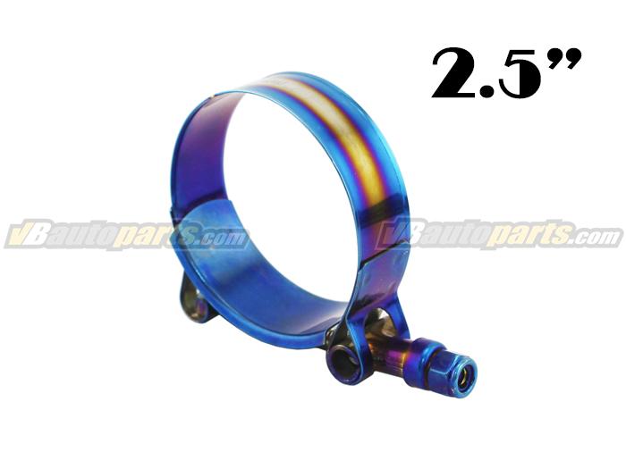 เข็มขัดรัดท่อสีไทเทเนียม ขนาด (2.5
