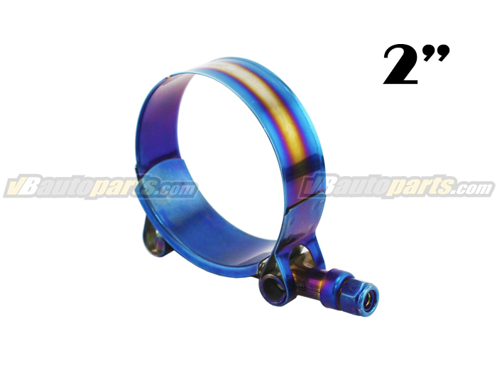 เข็มขัดรัดท่อสีไทเทเนียม ขนาด (2