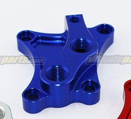 อแดปเตอร์น้ำมันเครื่องสำหรับใส่แผงออยแยก เครื่อง SR20 Nissan สีน้ำเงิน