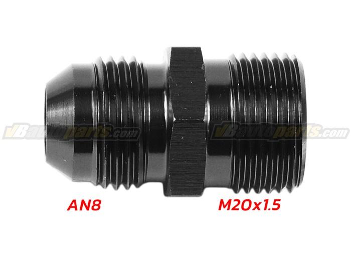 ข้อลดเกลียว (AN8 ออก M20X1.5)-(BK)