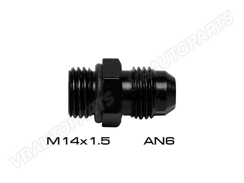 ข้อลดเกลียว M14X1.5 โอริง ออก(เกลียว AN6)-(BK)