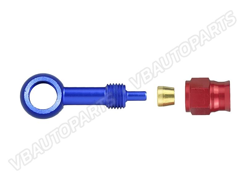 หัวบันโจ PTFE AN3(ตรง BLUE-RED)