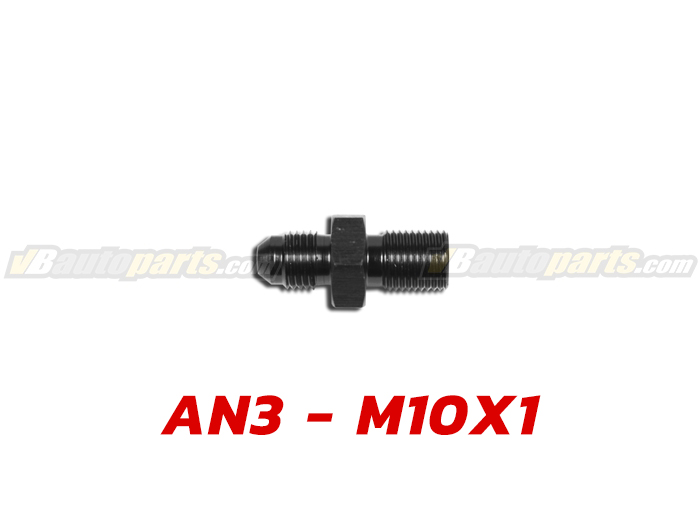 ข้อลดเกลียว (AN3 ออก M10X1)-(BK)