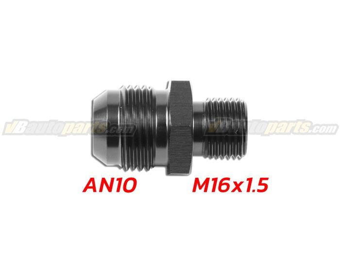 ข้อลดเกลียว (AN10 ออก M16X1.5)-(BK)