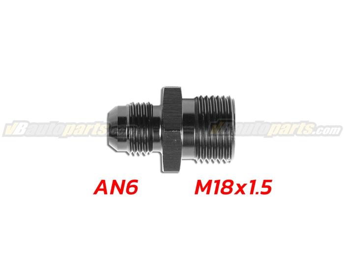 ข้อลดเกลียว (044) (AN6 ออก M18X1.5)-(BK)
