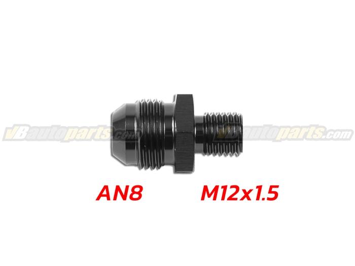 ข้อลดเกลียว (AN8 ออก M12X1.5)-(BK)
