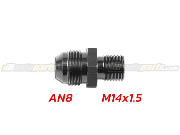 ข้อลดเกลียว (AN8 ออก M14X1.5)-(BK)