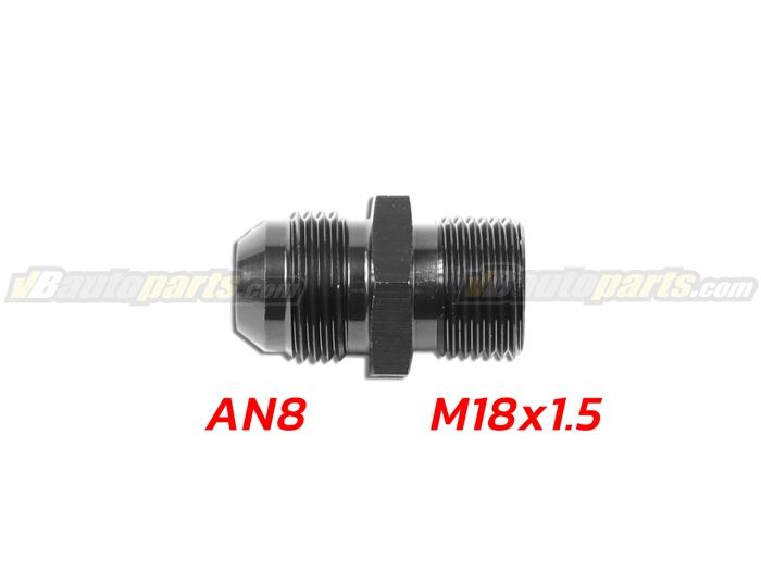 ข้อลดเกลียว (044) (AN8 ออก M18X1.5)-(BK)