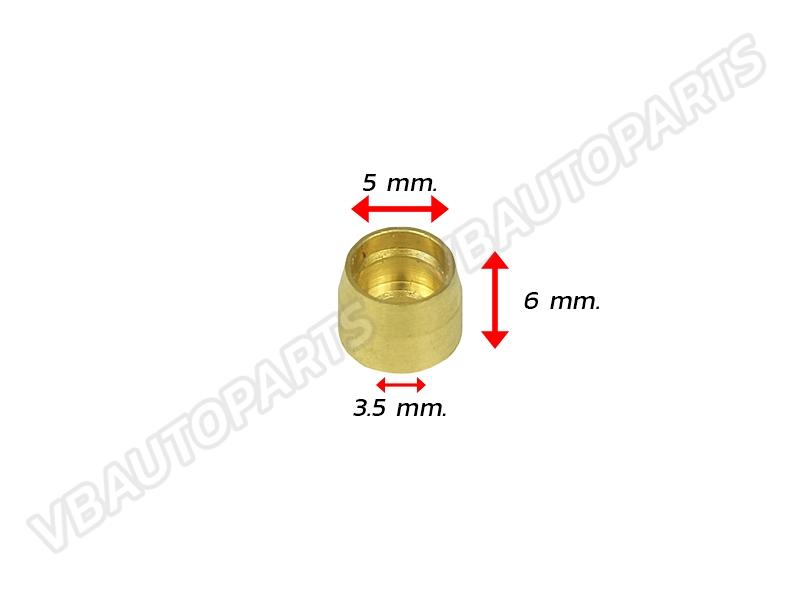 บูชทองเหลืองหัวสาย PTFE AN3