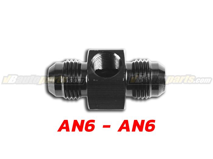 Adapter Fuel Press 1/8 ออกเกลียว สองทาง AN6-(BK)