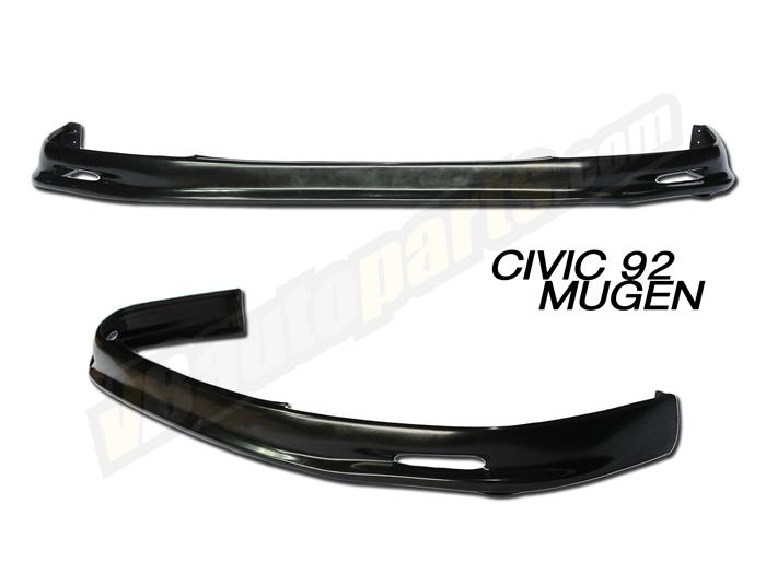 ลิ้นหน้า PVC สำหรับ Honda Civic 92 ทรง Mugen