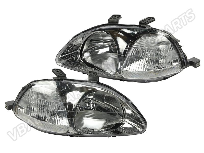 โคมไฟหน้าเพชร ของ Honda Civic EK 96 โคมขาว