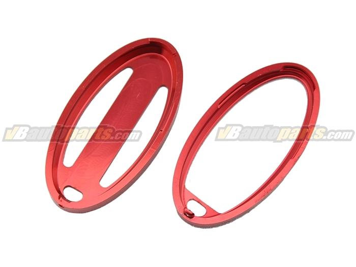 ครอบกุญแจอลูมิเนียมรถ Nissan (สีแดง)