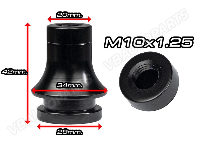 บูทถุงเกียร์อลูมิเนียมสีดำ(M10x1.25)