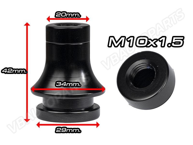 บูทถุงเกียร์อลูมิเนียมสีดำ(M10x1.5)