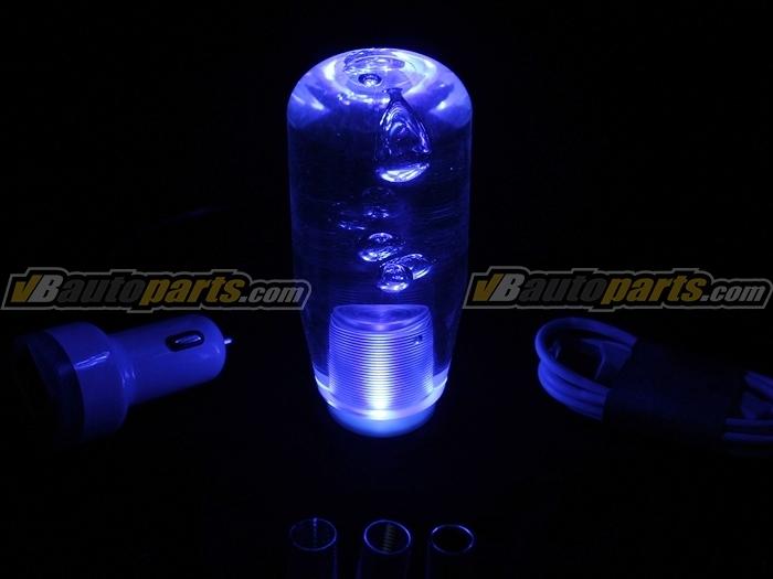 หัวเกียร์ Crystal Acrylic ใส มีไฟ LED สีน้ำเงิน