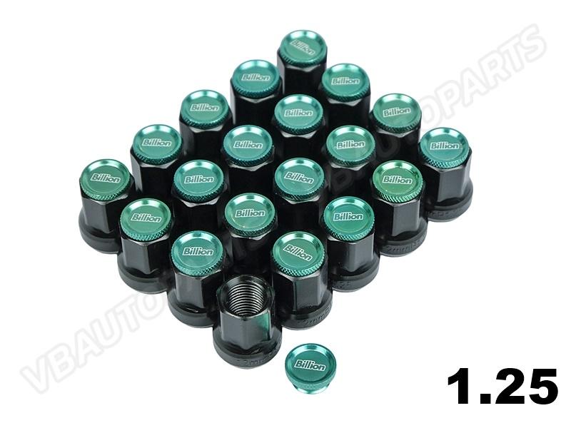 น็อตล้อเหล็ก Billion Type-B(1.25-Green)