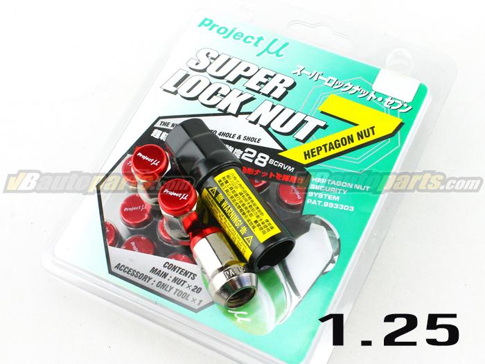 น็อตล้อเหล็ก PMU 7 Lock (สีแดง 1.25 / 20 ตัว)