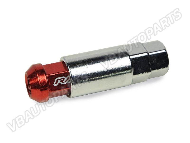 น็อต Rays เหล็ก 42mm. หัวปิด(เกลียว 1.5-RED)