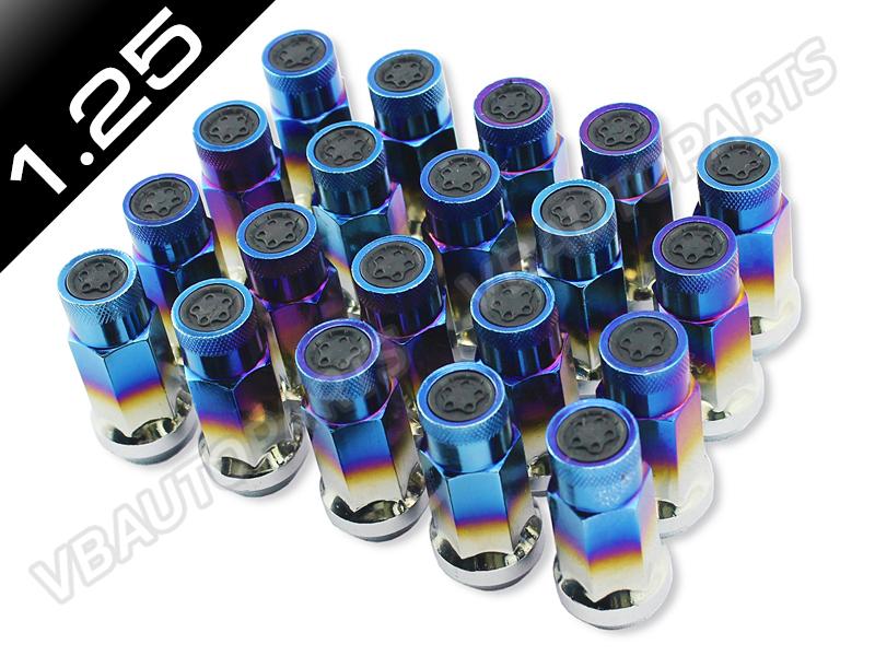 น็อตล้อเหล็กทรง SR48 สีไทเทเนียม (1.25 / 20 ตัว)