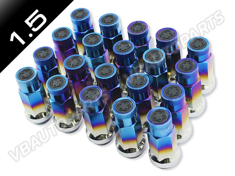 น็อตล้อเหล็กทรง SR48 สีไทเทเนียม (1.5 / 20 ตัว)